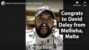 Congrats to David Daley from Mellieha, Malta