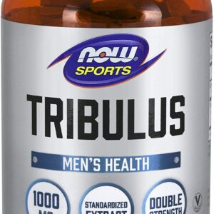 NOW Sports Nutrition, Tribulus (Tribulus terrestris) 1000 mg, Double Strength, Men's Health, 180 Tablets