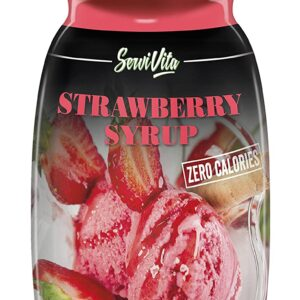 SERVIVITA ZERO CALORIES STRAWBERRY SYRUP 10.6 FL Oz