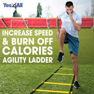 Yes4All Ultimate Agility Ladder - Agility Speed and Balance Training Ladder for All Ages with Multi Choice 8, 12, 20 Rungs - Included Carry Bag
