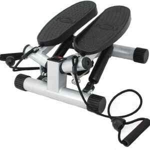 Sunny Health & Fitness Mini Stepper Stair Stepper Exercise Equipment with Resistance Bands